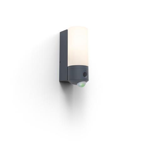 Venkovní nástěnná lampa s kamerou a pohybovým senzorem Lutec POLLUX