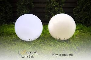 Sada dekorativních zahradních míčků - Luna Balls 25, 30, 40 cm + LED žárovky small 5