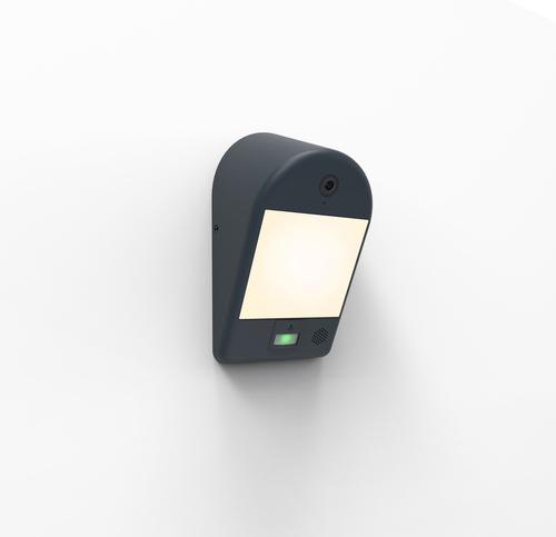 Venkovní lampa Lutec MIMO s kamerou, snímačem pohybu a reproduktorem