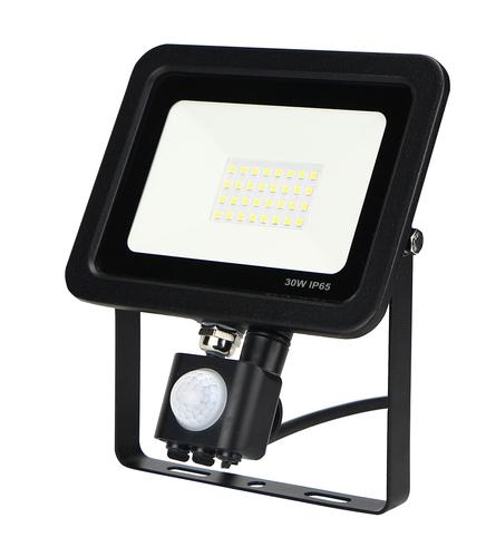LED světlomet tenký s pohybovým senzorem 30W / 230V 6400K PIR