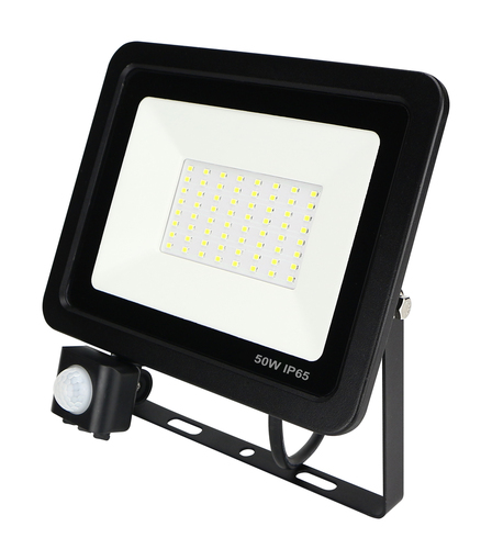 Naświetlacz LED slim 50W/230V 6400K PIR