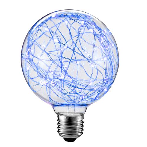 Dekorativní LED světlomet G125 E27 2W 230V modrý