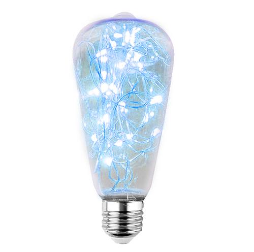Dekorativní LED světlík ST64 E27 2W 230V modrý