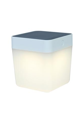Venkovní solární stolní lampa Lutec TABLE CUBE