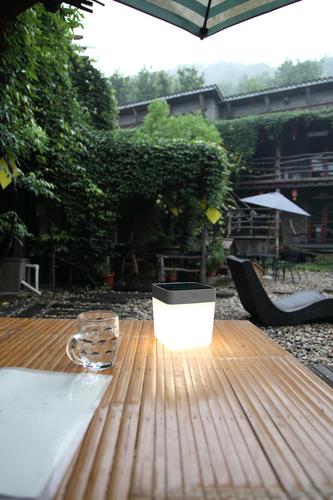 Venkovní lampa Lutec TABLE CUBE