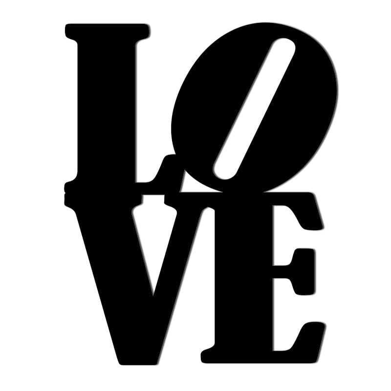 Nápis na zdi LOVE černý vzor 1
