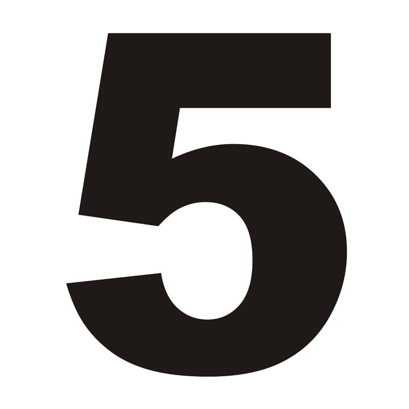 Číslo domu 5 černá