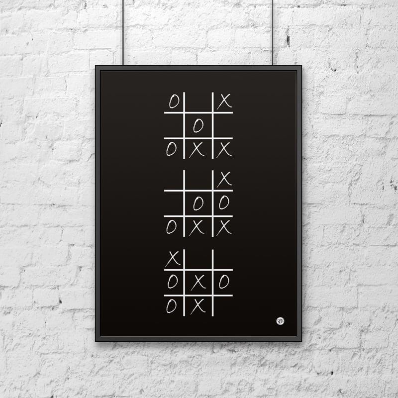 Dekorativní plakát 50x70 cm KOLO A KŘÍŽE černá