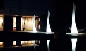Venkovní svítidla pro zahradu WING MONOBLOCK LAMP 40X46 / 219 CM small 0