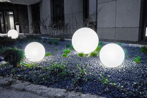 Sada dekorativních zahradních míčků - Luna Balls 20, 25, 30, 40 cm + LED žárovky