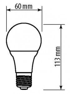 GTV LED žárovka E27 A60 10 W 840 lm EMPTY 60W A + small 1