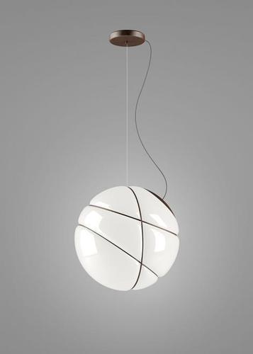 Závěsná lampa Fabbian Armilla F50 13W - bílá a hnědá - F50 A01 14