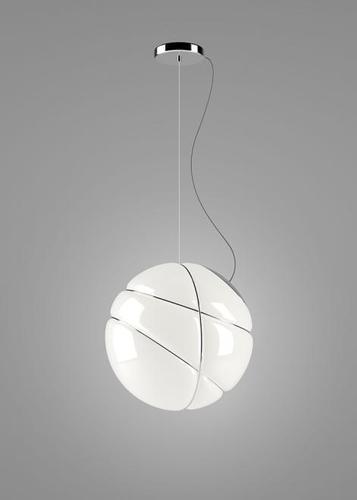 Závěsná lampa Fabbian Armilla F50 13W - bílá a stříbrná - F50 A03 15