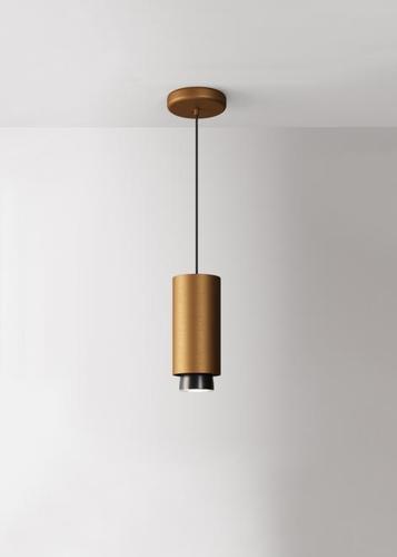 Závěsná lampa Fabbian Claque F43 20W 20cm - Bronzová - F43 A03 76