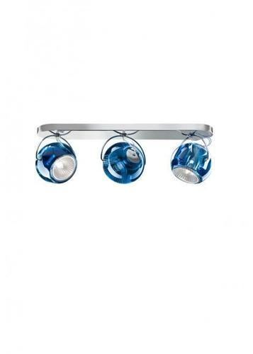 Fabbian Beluga Color D57 7W stropní lampa Triple - modrá - D57 G25 31