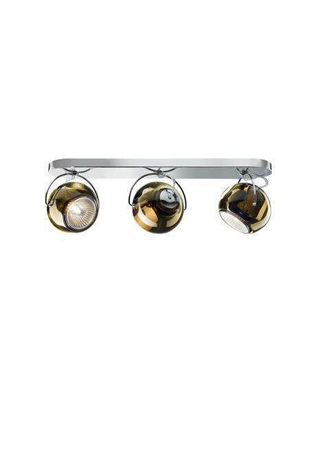 Fabbian Beluga Color D57 7W stropní lampa Triple - měď - D57 G25 41