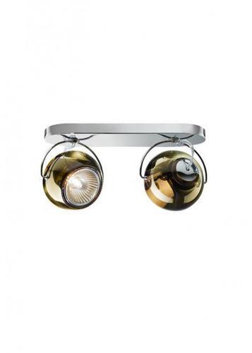 Fabbian Beluga Color D57 7W dvojitá stropní lampa - měď - D57 G23 41