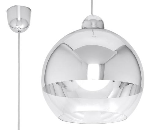 Biała Lampa Wisząca COSMO Chrom