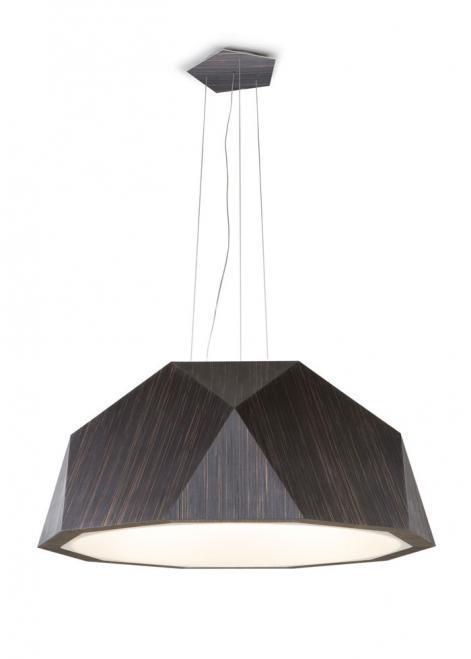 Závěsná lampa Fabbian Crio D81 8W 180cm - tmavé dřevo - D81 A17 48