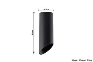 Černé stropní svítidlo PENNE 40 small 5