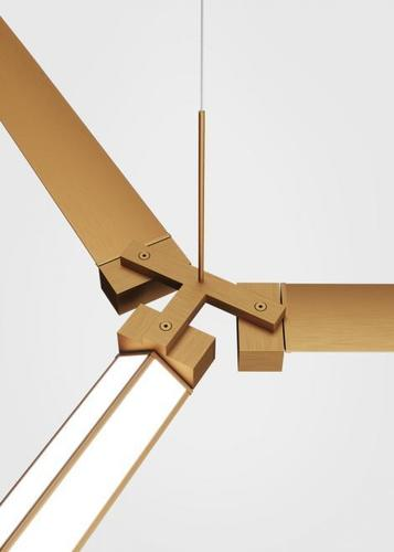 Příslušenství Fabbian Pivot F39 Trojitý konektor - Bronze - F39 Z03 76