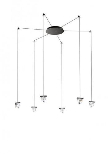 Závěsná lampa Fabbian Tripla F41 3W 6 - Anthracite - F41 G04 21