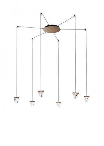 Závěsná lampa Fabbian Tripla F41 3W 6 - Bronz - F41 G03 76