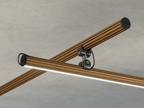 Elektrické příslušenství Fabbian Freeline F44 Zdobená tyč 2m - 3000K - Bronzová - F44 M15 76
