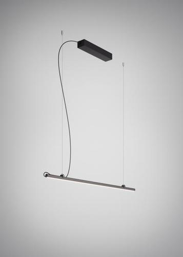 Závěsná lampa Fabbian Freeline F44 4W 1m - černá - F44 A02 02