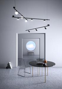 Závěsná lampa Fabbian Freeline F44 4W 1m - bronz - F44 A02 76 small 4
