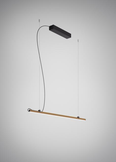 Závěsná lampa Fabbian Freeline F44 4W 1m - bronz - F44 A02 76