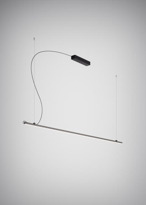 Závěsná lampa Fabbian Freeline F44 8W 2m - černá - F44 A03 02