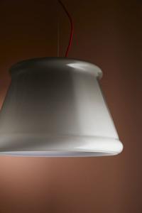 Závěsná lampa Fabbian Ivette F53 22W - bílá a jantarová - F53 A01 01 small 1