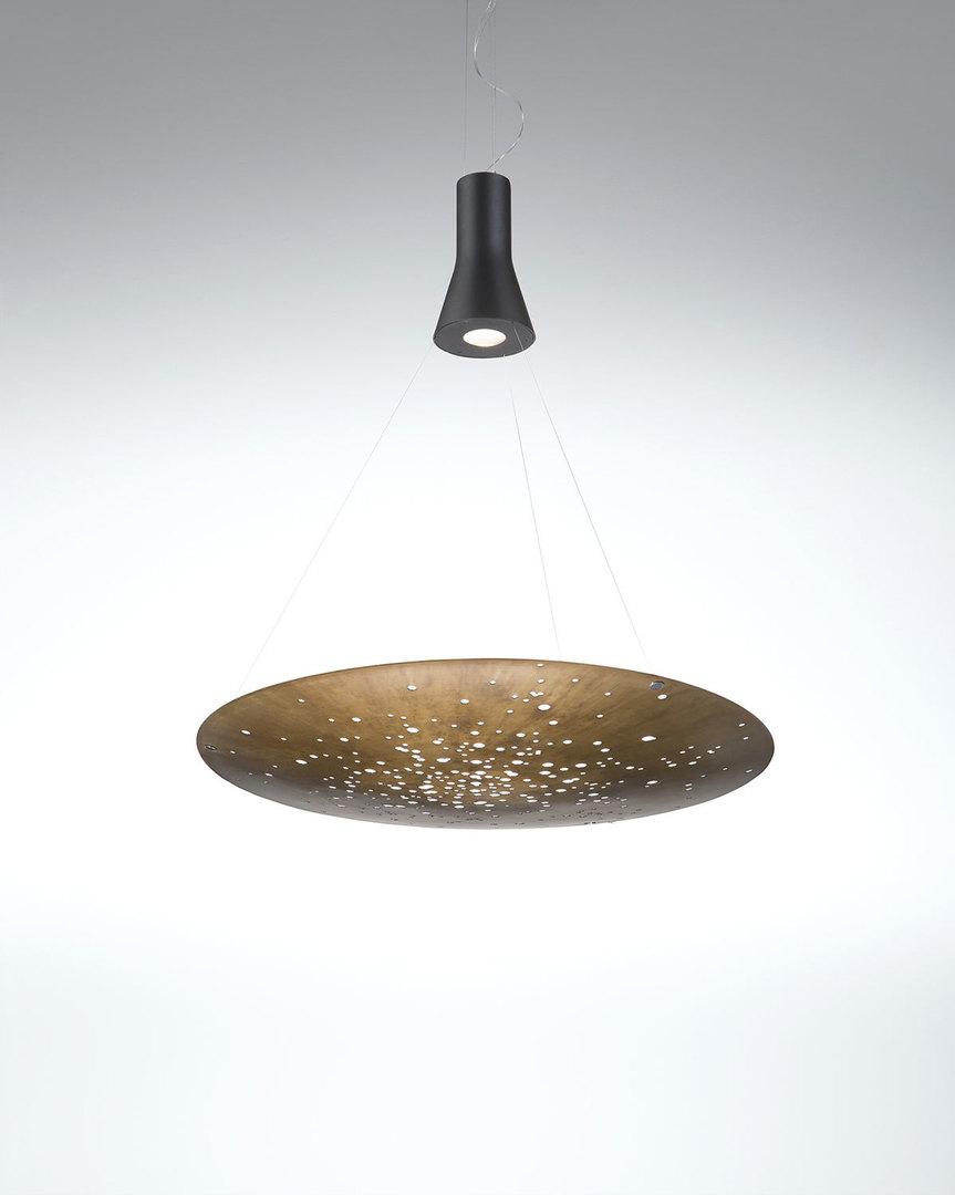 Závěsná lampa Fabbian Lens F46 26W 106x100cm - Rust - F46 A05 56