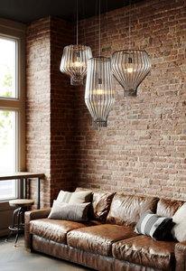 Závěsná lampa Fabbian Saya F47 22W 40cm - bílá a hnědá - F47 A09 01 small 2