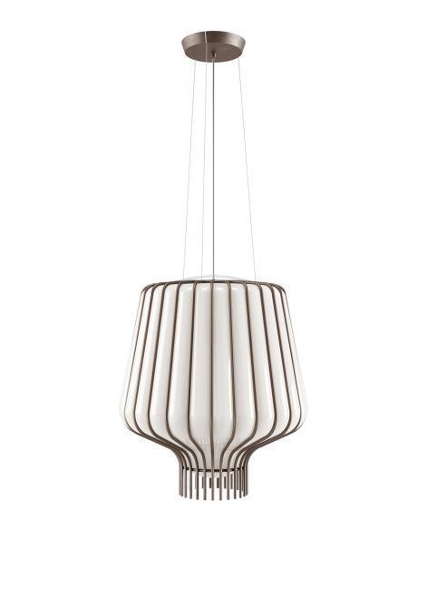 Závěsná lampa Fabbian Saya F47 22W 40cm - bílá a hnědá - F47 A09 01
