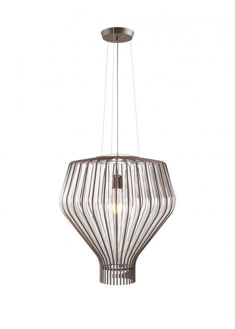 Závěsná lampa Fabbian Saya F47 22W 48cm - Transparentní - F47 A14 00