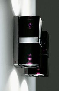 Nástěnná lampa Fabbian Cubetto D28 7W Chrome - černá - D28 E03 02 small 2