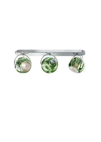 Fabbian Beluga Color D57 7W stropní lampa Triple - Green - D57 G25 43
