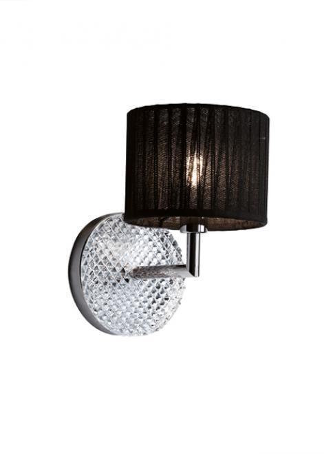 Nástěnná lampa Fabbian DiamondSwirl D82 5W - černá - D82 D01 02