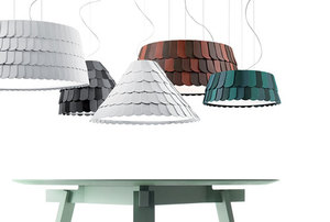 Závěsná lampa Fabbian Roofer F12 22W 57cm - bílá - F12 A01 01 small 1