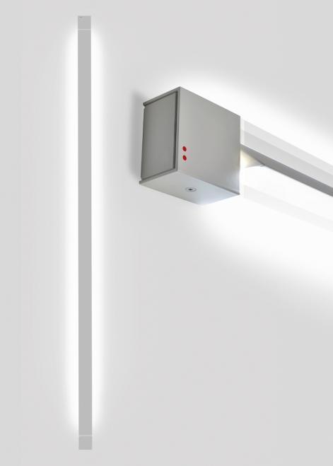 Nástěnná lampa Fabbian Pivot F39 70W 3000K - Světle šedá - F39 G05 75