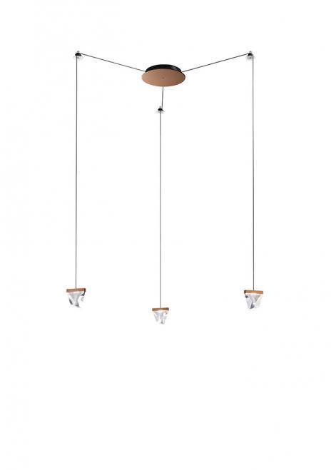 Závěsná lampa Fabbian Tripla F41 3W 3 - Bronz - F41 G02 76