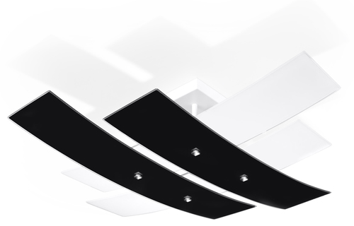 Biały/czarny Plafon ANDREA 50