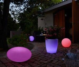 Sada 3 solárních zahradních kuliček 30cm 40cm 50cm small 2