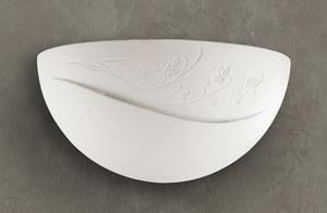 Bílá keramická nástěnná lampa BELLA small 1
