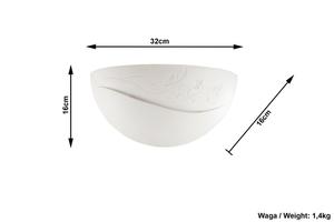 Bílá keramická nástěnná lampa BELLA small 3