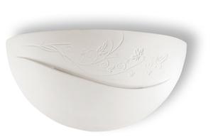 Bílá keramická nástěnná lampa BELLA small 0