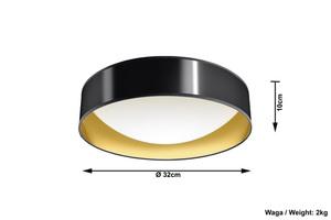 Stropní lampa MARTINO 32 černá small 3