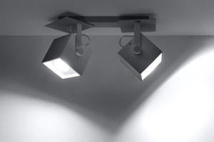 CEDRA 2 šedá stropní lampa small 2